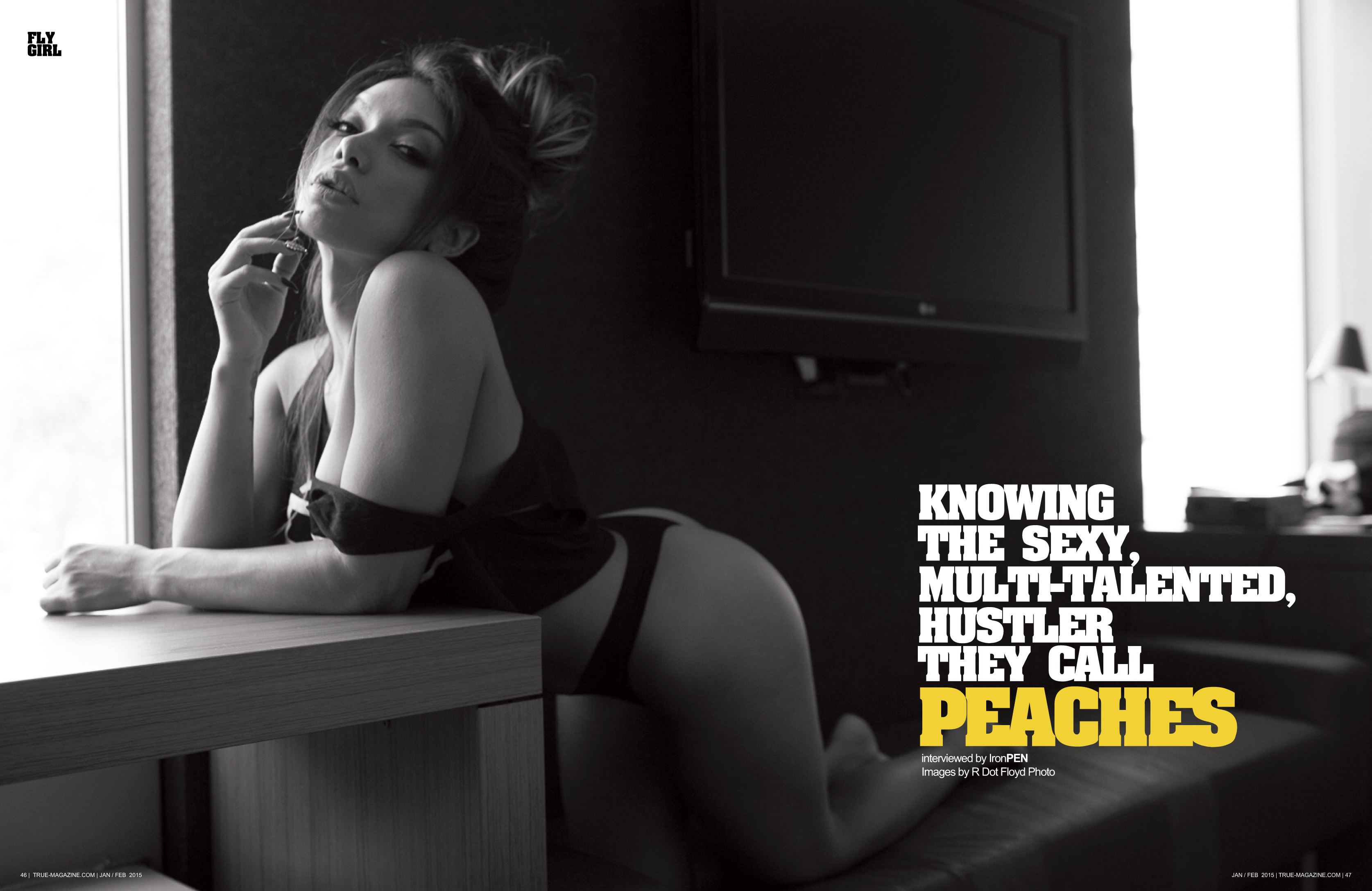 TRUE Mag 77_Fly Girl_Peaches